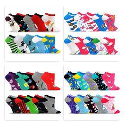 TeeHee Socks Women's Valued 10 Pack Fashion No Show Cotton S