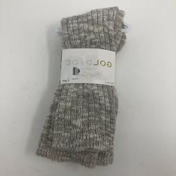 Gold Toe Womens Shoe Size 6-9 2 Pair Crew Boot Socks Tan Cre