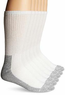 Men'S Heavy Duty Crew Sock, White - 1 Pkg